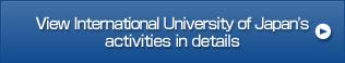 View International University of Japan's activities in details